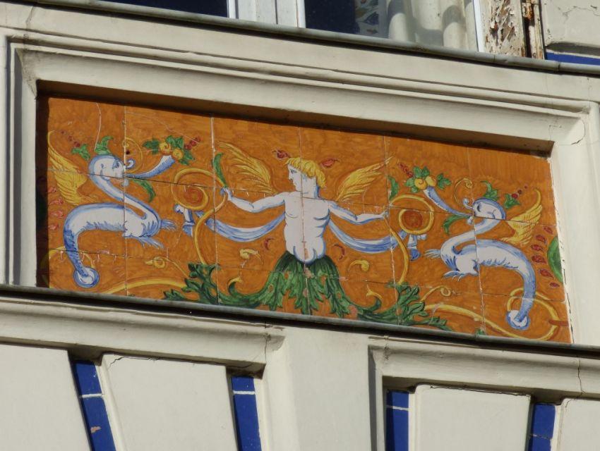 maison de caractère XIXème - Façade avec tableaux de faïence.