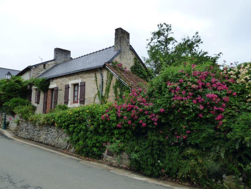Maison ancienne restaurée dans 'petite cité de caractère' habitable en plain-pied avec jardin et dépendances