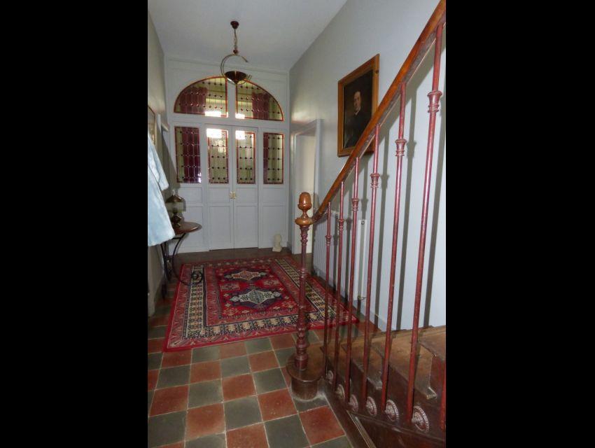 carrelage-italien-carreaux de ciment peint - vitraux- maison XIXeme