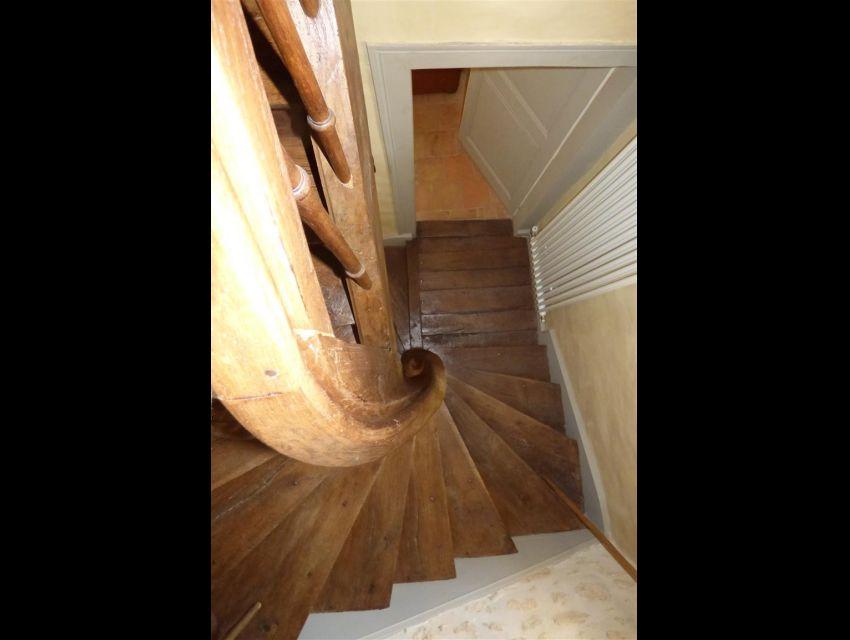 volee d'escalier en bois massif